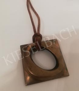 Csiky, Tibor - Polished Bronze Pendant, 1970s