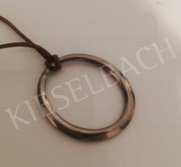 Csiky, Tibor - Oval Metal Pendant, 1970s