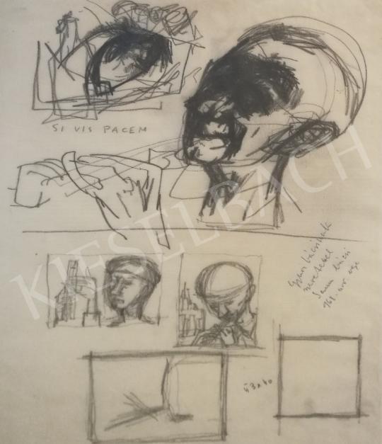 Kondor, Béla - Head Study Variation painting