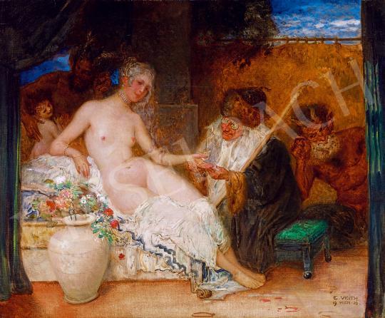 Eladó  Veith, Eduard - Fiatal szépség és a jósnő festménye