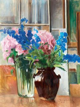Benkhard, Ágost - Studio Still-Life (Pink Roses)