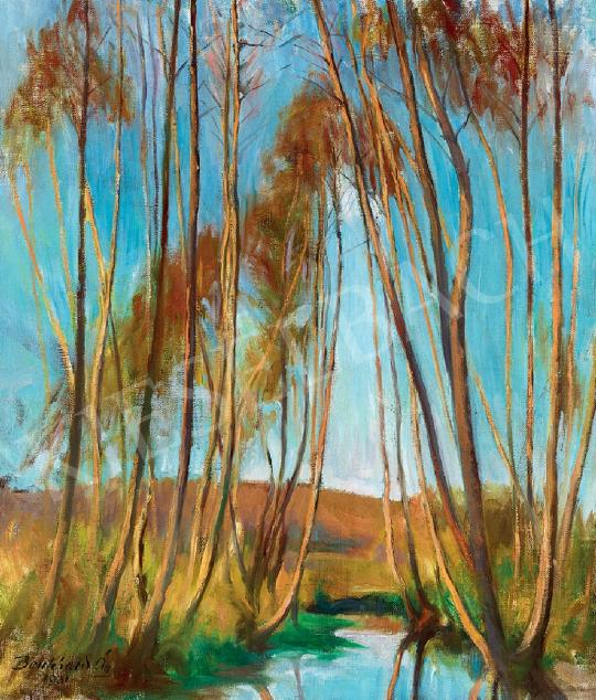Benkhard, Ágost - Trees by the Water, 1931 painting