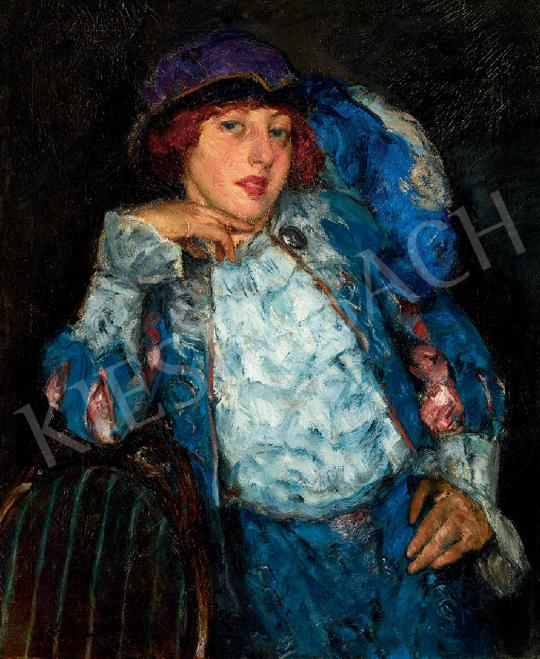 For sale  Czencz, János - The Coquettish Look, 1916 's painting