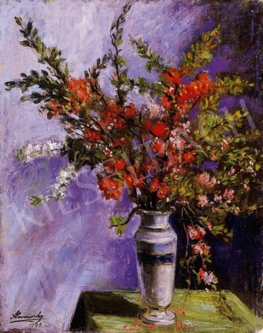Slevenszky Lajos - Virágcsendélet | 6. Aukció aukció / 47 tétel