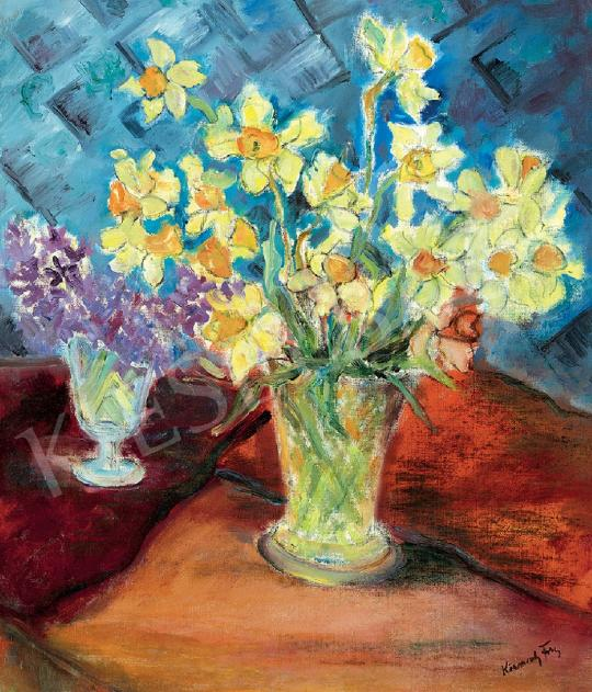 For sale Körmendi-Frim, Ervin - Still-Life with Narcissi, c. 1930 's painting
