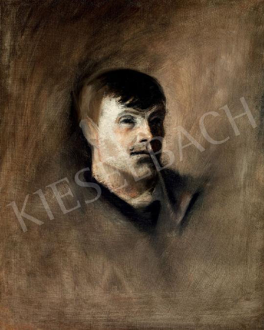 Eladó  Mednyánszky László - Pipázó fiatalember festménye