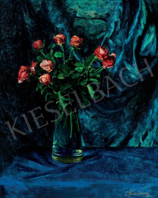 Pentelei Molnár János - Csendélet rózsákkal, 1913 festménye