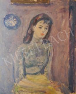 Vén, Emil - Girl in Blue Turtleneck Sweater, 1958