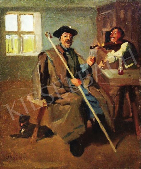 Eladó Juszkó Béla - Egy pohár bor (Nótaszó) festménye