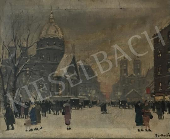 For sale  Berkes, Antal - Budapest in winter 's painting