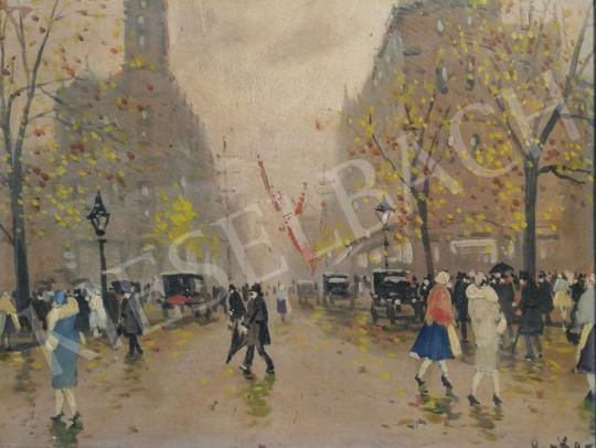 For sale  Berkes, Antal - Street Scene 's painting