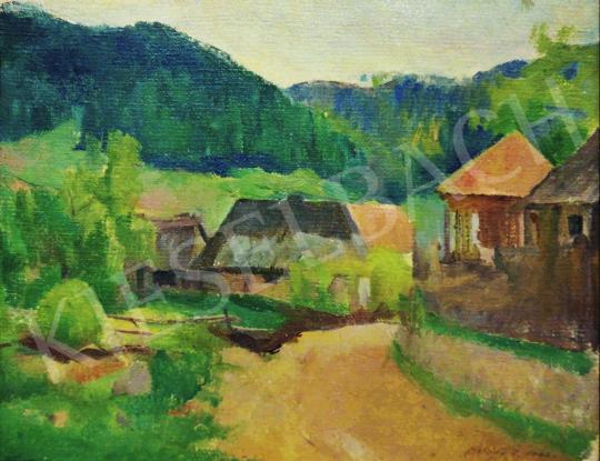 Eladó Onódi Béla - Falusi hangulat, 1942 festménye