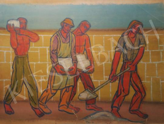 For sale  Vén, Emil - Builders, 1947 's painting