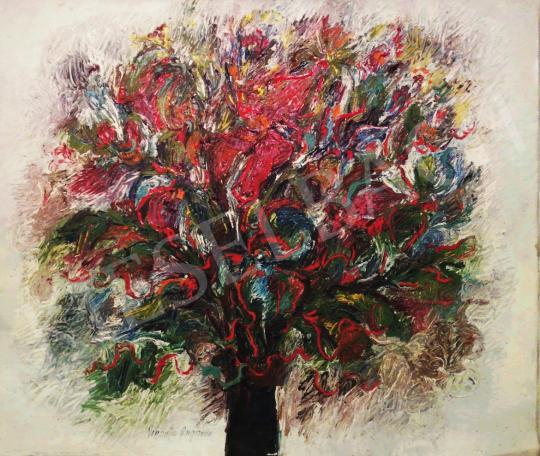 Eladó  Vicentiu Grigorescu - Nagy virágcsendélet festménye