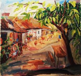 László Sárpataky - Sunny Courtyard