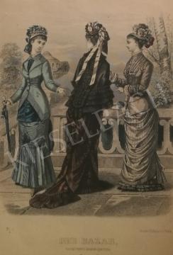 Eladó Ismeretlen művész - 19. század divatja (Der Bazar) festménye
