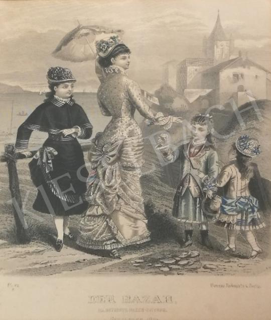For sale Unknown artist - 19th century fashion (Der Bazar II.) 's painting