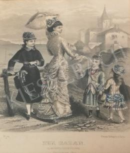 Unknown artist - 19th century fashion (Der Bazar II.)