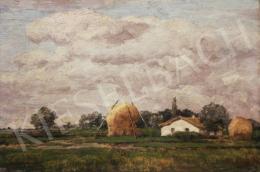 Feszty Árpád - Magyar táj (Tanya felhős égbolttal)
