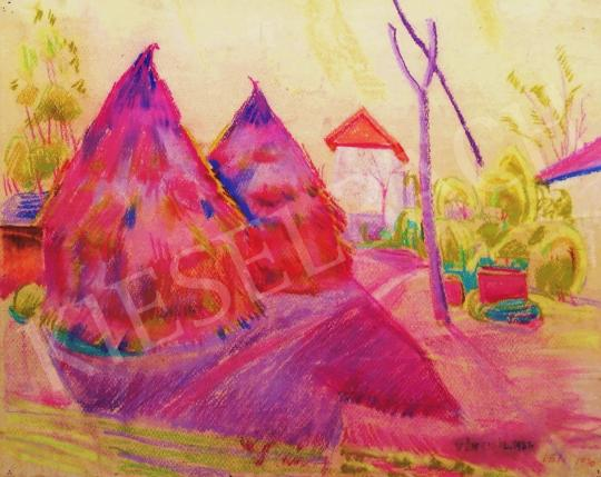 For sale  Vén, Emil - Courtyard with Haystacks, 1930 's painting