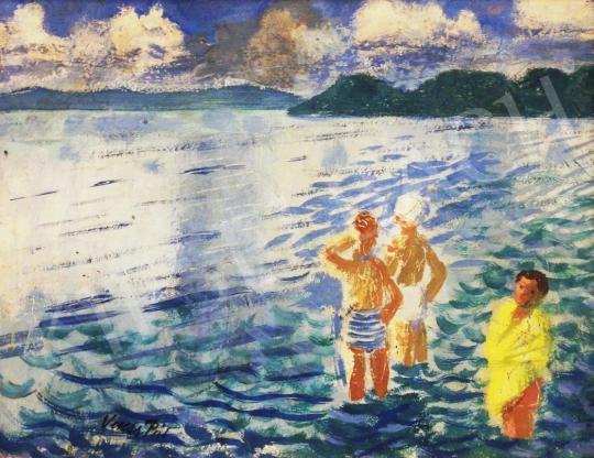 Eladó Veress Pál - Balatoni látkép festménye