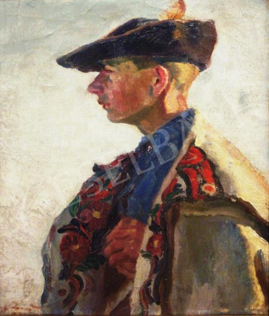 For sale Csuk, Jenő - Young Man in Traditional Costume, 1922 's painting