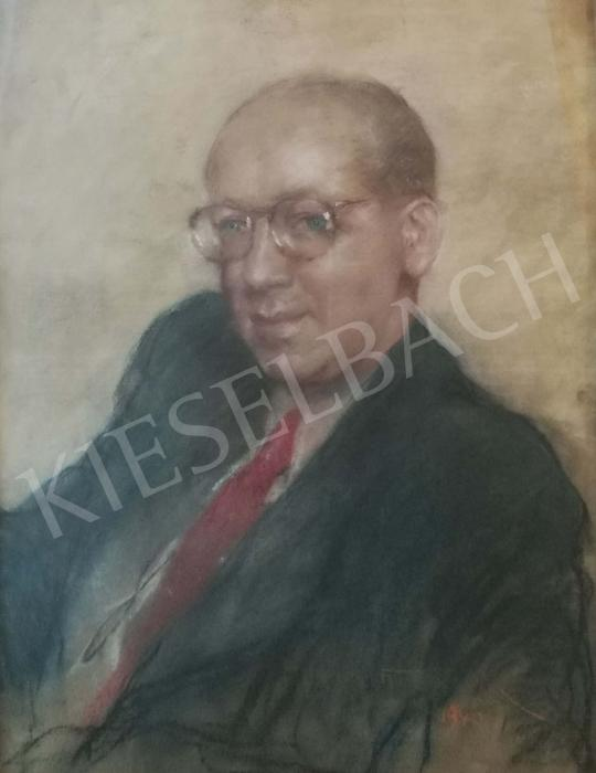 For sale  Fried, Pál - Litterateur (Red Tie), 1940 's painting