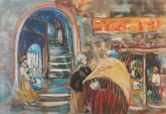 Eladó Farkasházy Miklós - Utcai forgatag festménye