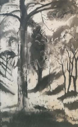 Szőnyi, István - Snowy trees