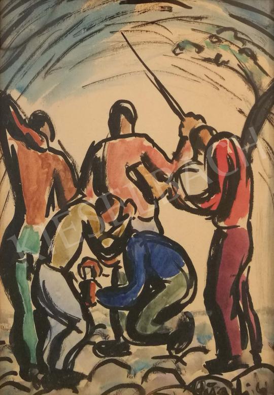 Eladó Peterdi Gábor - Sportolók festménye