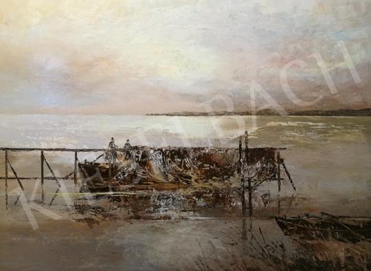 Eladó  Szanthoffer Imre - Halászok (Naplemente) festménye
