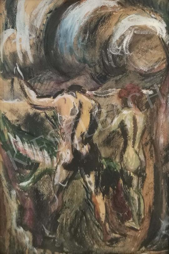 Eladó Peterdi Gábor - Ádám és Éva festménye