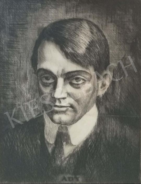 Eladó Ismeretlen művész - Ady Endre portréja festménye