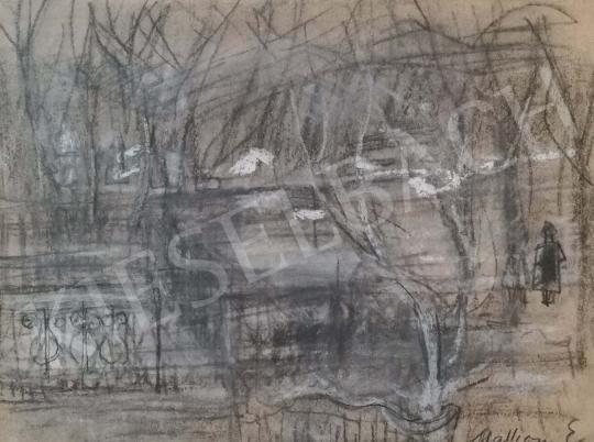 Eladó Mattioni Eszter - Hófoltok a kertben festménye