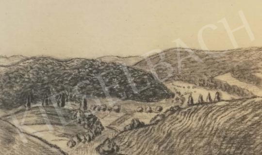 Eladó  Pólya Tibor - Kilátás a dombokra festménye