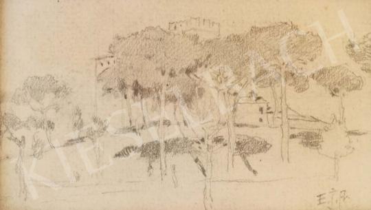 Eladó  Edvi Illés Aladár - Parkrészlet festménye