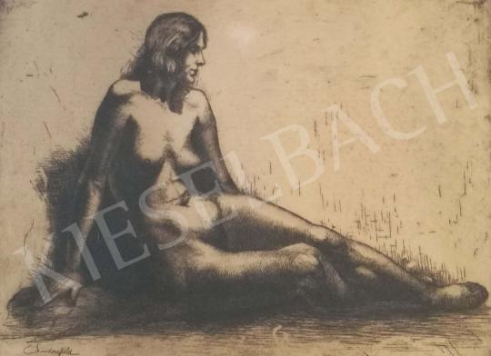 Eladó Lindenfeld Emil - Ülő női akt festménye