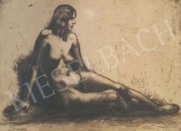 Lindenfeld Emil - Ülő női akt