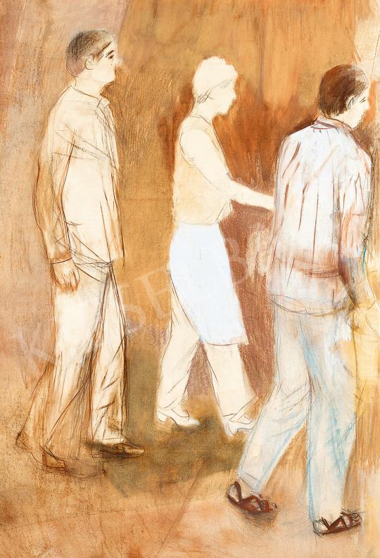Eladó  Bernáth Aurél - Megérkezők festménye