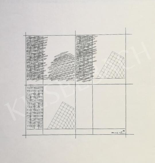 Eladó Zöld Anikó - Geometrikus formák festménye