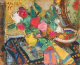 Czóbel, Béla - Still Life with Coloured Flowers, 1955