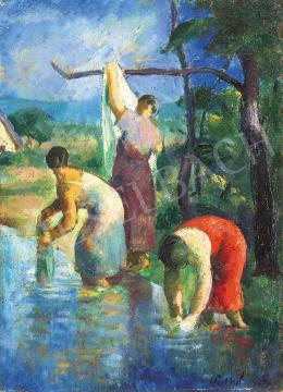 Patkó, Károly - By the Stream, 1924