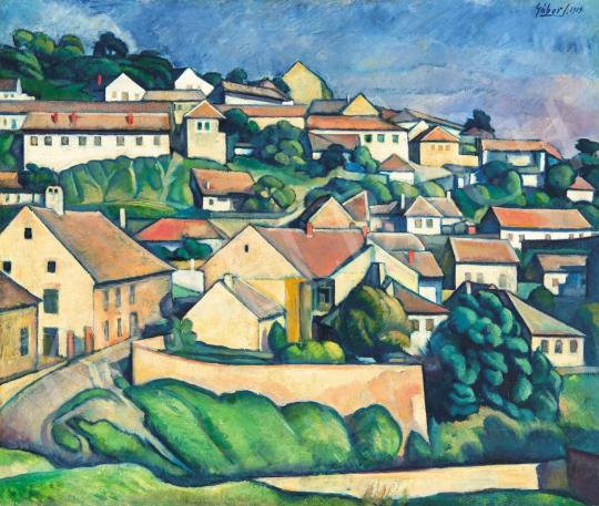 For sale  Gábor, Jenő - Sunny Hillside with Houses (Tettye), 1919 's painting