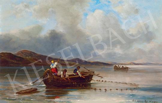 Eladó Böhm Pál - Halászok festménye