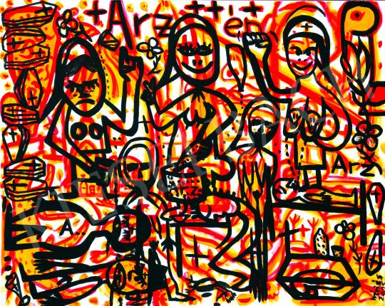 For sale  drMáriás - In the A.R. Penck Studio of the Arsenic Women of Tiszazug, 2015 's painting