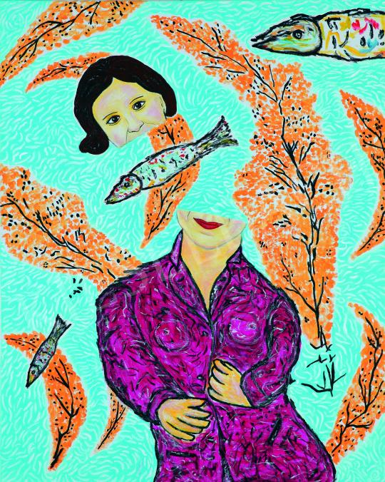Eladó  drMáriás - Szél Bernadettet elfújja a szél, 2018 festménye