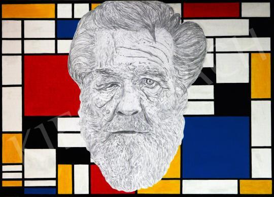 drMáriás - Egy hajléktalan Piet Mondrian műtermében, 2014 festménye