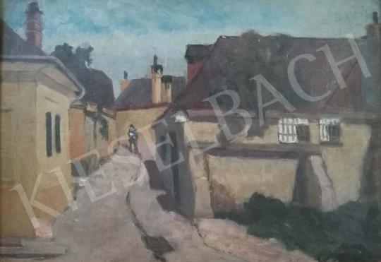 Eladó Kató Kálmán - Napsütötte tabáni utca festménye