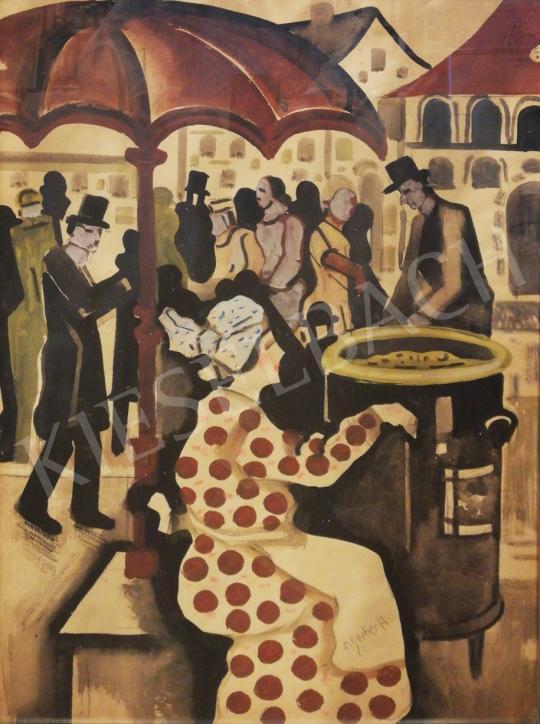 Scheiber Hugó - A gesztenyesütő festménye