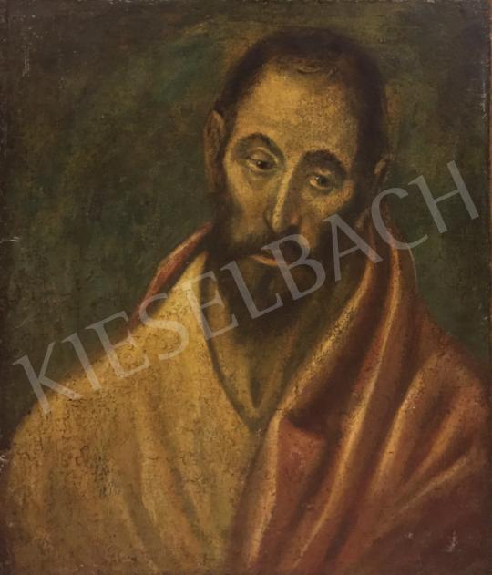 Eladó  Ismeretlen 19. századi festő El Greco után - Szerzetes festménye